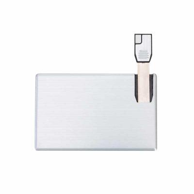 Cross Brindes - Pen card 4GB de alumínio. Cartão slim frente e verso liso.