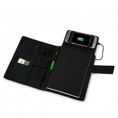 Cross Brindes - Caderno com carregador power bank