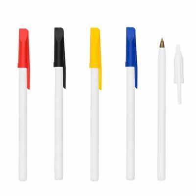 cross-brindes - Caneta Plástica com Tampa Colorida Personalizada com tampa colorida. Medidas aproximadas para gravação (CxL):  10,8 cm x 0,5 cm Tamanho total aproxima...