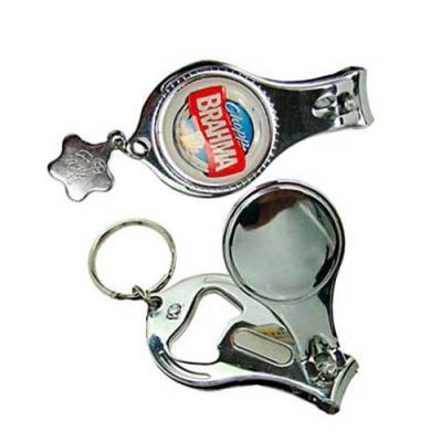Cross Brindes - Chaveiro com cortador, mini lixa e abridor de garrafa