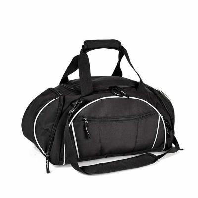 Cross Brindes - Mala Esportiva preta em Nylon e Polyester 300D Personalizada