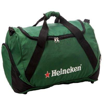 Marca e sua marca - Bolsa de viagem, bolso lateral, alça de mão e tiracolo