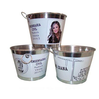 Tekinha Brindes - Balde de gelo personalizado para até 9 litros.