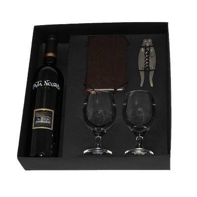 Design Promo - Kit vinho em caixa de papel duplex com vinho