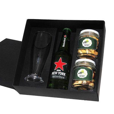 Kit cerveja em caixa de papel duplex com cerveja Heineken de 355 ml com 1 c...