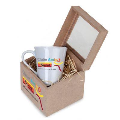 Design Promo - Kit com caneca de porcelana de 300 ml com 2 sachês de chá