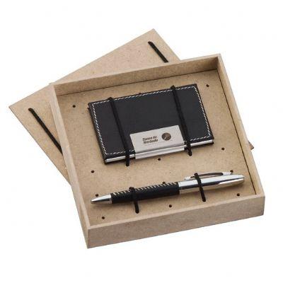 Design Promo - Kit escritório com porta-cartão e caneta