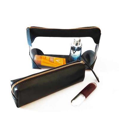 Ateliê Lapin - Kit com necessaire cristal e estojo em couro ou sintético de primeira linha que são lindos, úteis e muito elegantes.  Presenteie com classe me fortale...