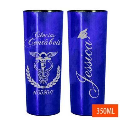Brindes Drica - Copo Long drink azul