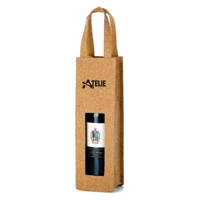 Ateliê Brindes - Sacola para garrafa kraft personalizada