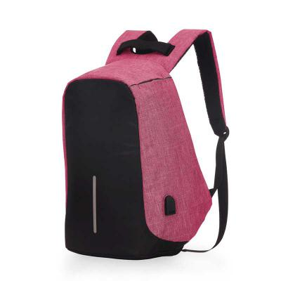 Ateliê Brindes - Mochila porta notebook confeccionada em poliéster 600, contendo compartimento com divisória almofadada para notebook até 15.6''. Bolso lateral em tela...