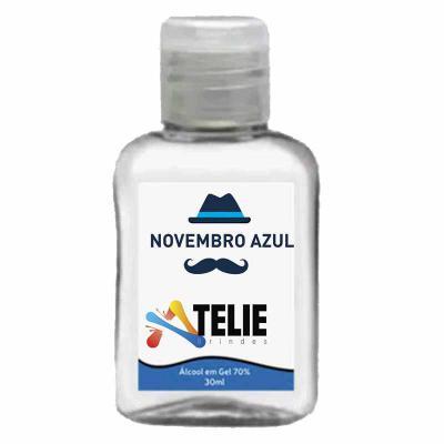 Ateliê Brindes - Álcool gel higienizante 70% frasco plástico, temos com as capacidades 35ml/ 60ml /100 ml e 250ml, Composição: Aqua, Hydroxyethylcellulose, Aloe Barbad...