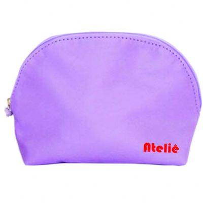 Ateliê Brindes - Necessaire lilás nylon - tam 17x12x6,5 cm  - 1 cor