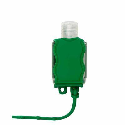 Ateliê Brindes - Chaveiro porta álcool gel, material emborrachado com capacidade para frasco de 35ml.   Altura :  6,5 cm  Largura :  3,7 cm  Medidas aproximadas para g...