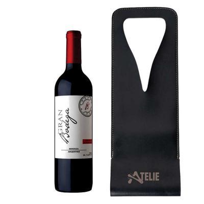 Ateliê Brindes - Porta vinhos em sintetico personalizado