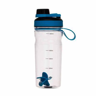 Splash7 Brindes - Coqueteleira plástica de 600ml com misturador. Tampa rosqueável com detalhe plástico colorido e tampa protetora de bocal, possui alça para transporte...