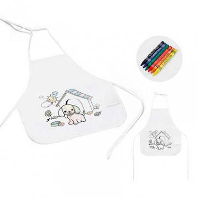 Galeria de Ideias - Avental infantil para colorir Non-woven