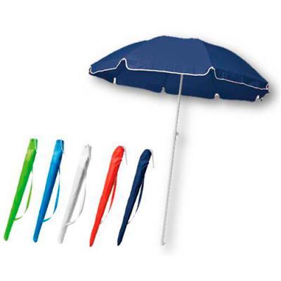Galeria de Ideias - Guarda-sol em 170T. Fornecido em bolsa. Peças nas cores azul, vermelha, branca, azul claro ou verde claro. Medidas: Bolsa: 960 x 120 mm. Gravação: sil...