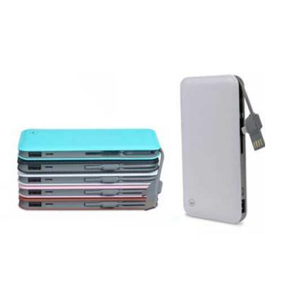 Galeria de Ideias - Bateria Kimaster com capacidade de 10.000 mAh. Peça compacta, leve com textura de couro e compatível com smartphones, iPhone, consoles de jogos portát...