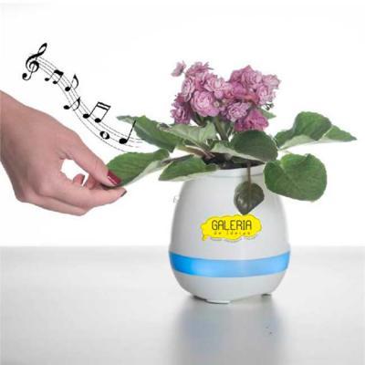 Galeria de Ideias - Caixa de som no vaso de planta