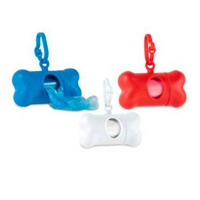 Galeria de Ideias - Kit de higiene para cachorro. Contém 20 sacolas de plástico. Peças nas cores azul, vermelha e branca. Medidas: 82x48x41mm. Sacolinha: 265x320mm Gravaç...