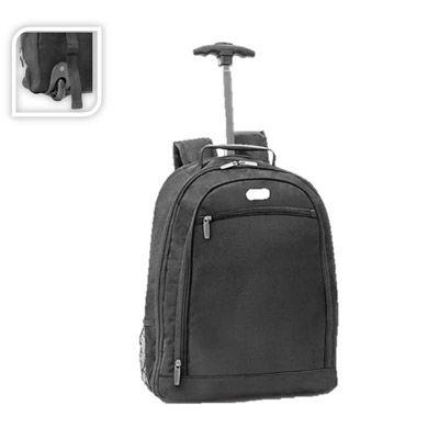 Galeria de Ideias - Mochila trolley para notebook 1680D e 600D possui 2 rodas.