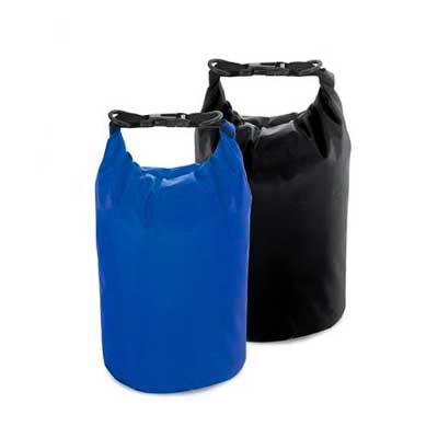 Galeria de Ideias - Sacola 190T impermeável. Com alça ajustável e capacidade de 3,5/5 L. Peças nas cores preta ou azul royal. Medidas: 230 mm x 320 mm. Gravação: silk.