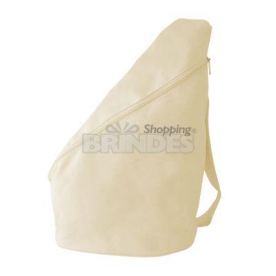 Shopping Brindes - Mochila transversal em lona 100% algodão