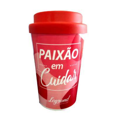 Master Coolers - Copo para café Capacidade 400 ml Copo produzido em polipropileno Tampa emborrachada Material atóxico grau alimentício.