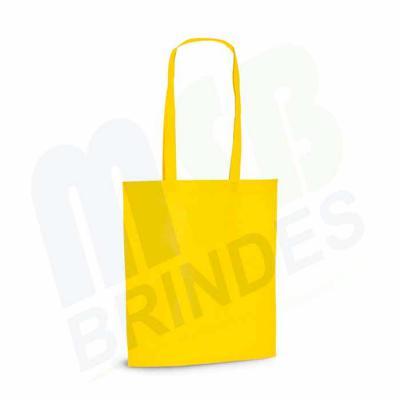MSB Brindes personalizados - Sacola. Non-woven: 80 g/m². Termo-selado. Alças de 75 cm. 380 x 415 x 85 mm