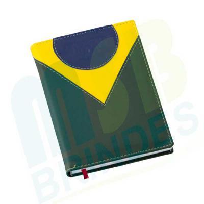 MSB Brindes personalizados - Agenda Diária Capa Vertical Couro Sintético em duas cores