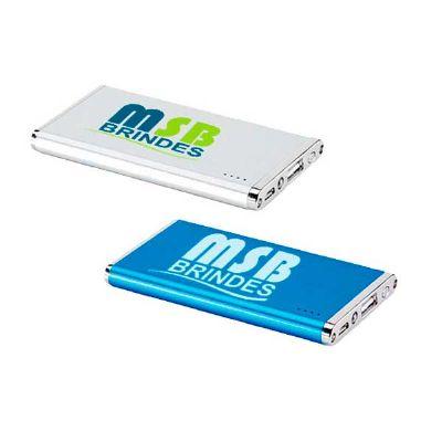 MSB Brindes personalizados - Carregador power bank bateria portátil slim alumínio