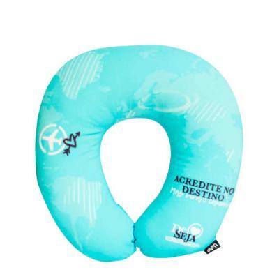 Uatt? Brindes - Almofada de pescoço personalizada Uatt?  Características do produto Revestimento: 90% Poliéster e 10% Elastano. Enchimento: 100% Fibra siliconada. Dim...