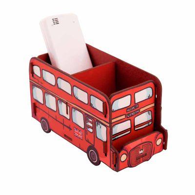 Uatt? Brindes - Porta objetos madeira - ônibus London