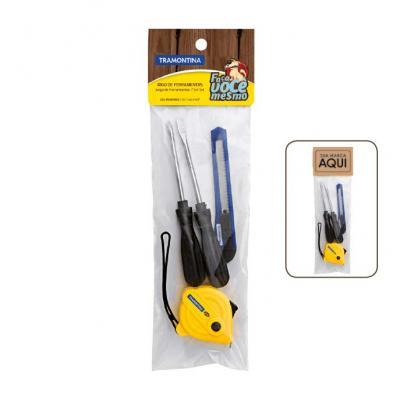 Tramontina - Kit de ferramentas Tramontina 4 peças