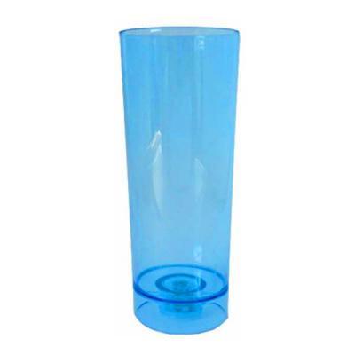 O Mundo das canecas - Copo Led Long Drink Acrílico Azul Cristal