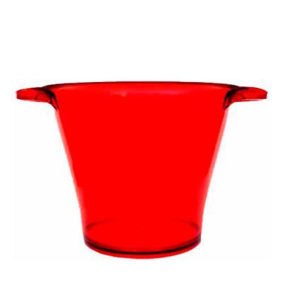 O Mundo das canecas - Compre Balde Vermelho de Gelo em Acrílico (PS) Personalizados aqui direto da fábrica. Excelente item promocional para impressionar seus clientes. Ele...