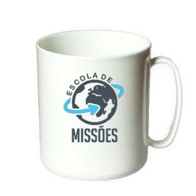 O Mundo das canecas - Caneca escolar reta personalizada em plástico PP 350 ml para café & leite. Estas canecas em PP são para café ou leite. Certamente, você poderá usar pa...