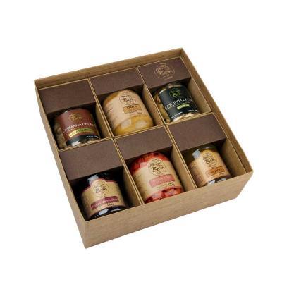 Amigos do Bem - Kit sabores  • 1 Castanha de Caju Premium 140g • 1 Doce de Leite 280g • 1 Castanha Caramelizada 120g • 2 Geleias 180g (Consulte Sabores) • 1 Pimenta B...