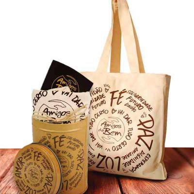 Amigos do Bem - Sacola do Bem Contém:  • 1 Sacola Ecobag  Toda a renda gerada com as vendas dos Kits corporativos é destinada aos projetos dos amigos do bem no sertão...