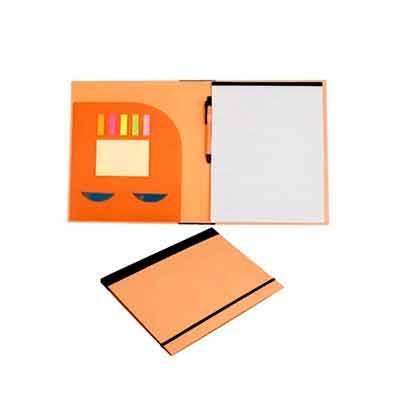Thap  Brindes - Pasta convenção ecológica, ideal para utilização em eventos e no dia a dia. Possui elástico preto para fechamento, blocos adesivos com aproximadamente...