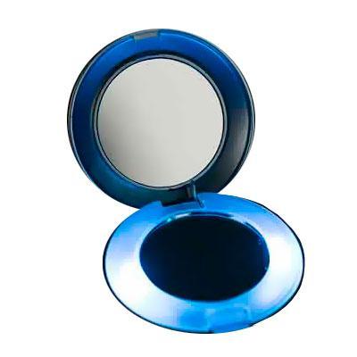 thap-papeis-e-brindes - Ideal para retocar a maquiagem esse espelho plástico possui aumento e luz.