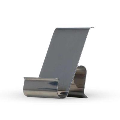 Thap  Brindes - Porta celular em plástico resistente com limpador de tela. Corpo prata com detalhe colorido, basta puxar compartimento inferior para posicionar a peça...