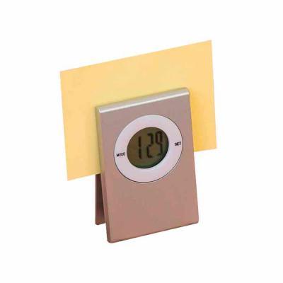 Thap  Brindes - Relógio de mesa prendedor personalizado. Ideal para sala de reuniões, possui deixar recados e anotações sempre próximos e organizados.