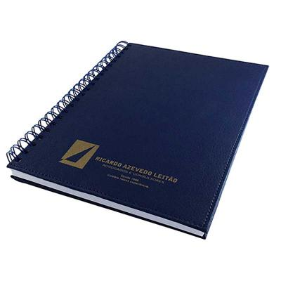 Thap  Brindes - Fabricação própria, cadernos personalizados do seu jeito.Tamanhos 15x21,18x25 e 21x28 cm. Capa revestida em couro sintético com gravação em silk.