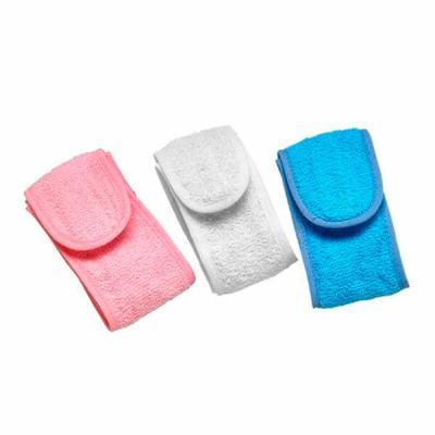 Thap  Brindes - Faixa atoalhada personalizada.material com 95% algodão, Produto não perecível. Fechamento em Velcro. Usada para proteger os cabelos durante a limpeza...