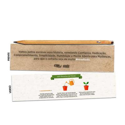 Thap  Brindes - Lápis semente personalizado. Ao terminar de usar, basta enterrá-lo e regalo para que germine. Diversas sementes disponíveis.