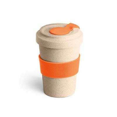 Job Promocional - Copo ecológico para viagem em fibra de bambu com tampa e pega em silicone  Copo para viagem. Fibra de bambu e PP. Com banda de silicone e tampa. Capac...