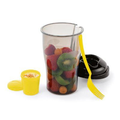 Job Promocional - Copo para salada com garfo e recipiente para molhos. Capacidade 850 ml