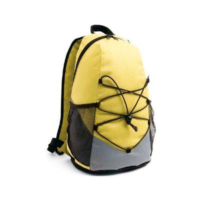 Job Promocional - Mochila esportiva em poliéster com bolsos laterias em tela.